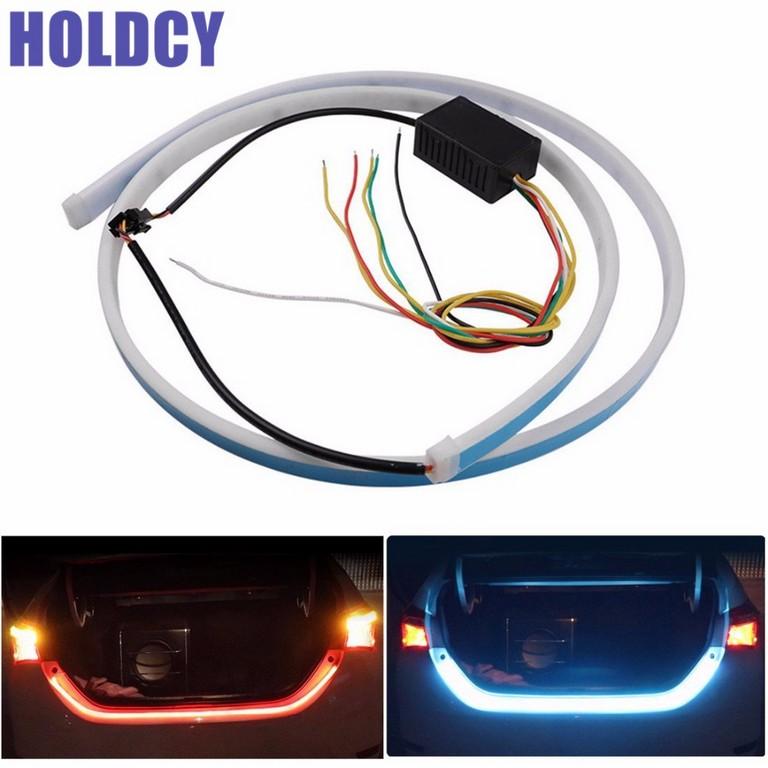 1 Satz Auto Led Streifen Beleuchtung Hinten Trunk Licht Dynamische within proportions 1000 X 1000