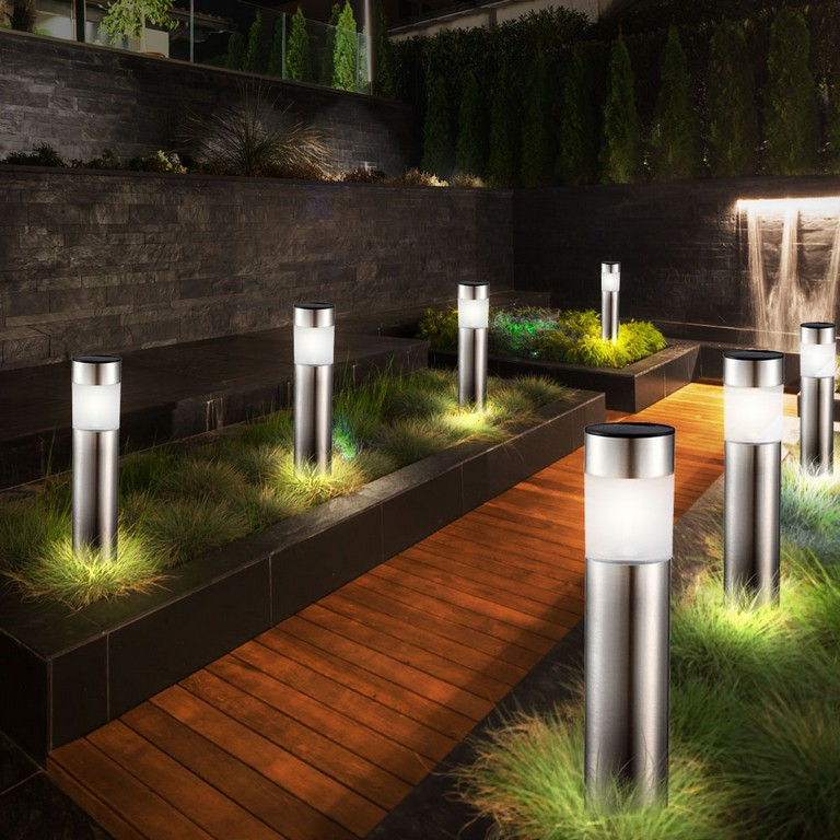 12er Set Led Solar Steck Leuchten Garten Weg Auen Beleuchtung Ip44 within dimensions 1000 X 1000