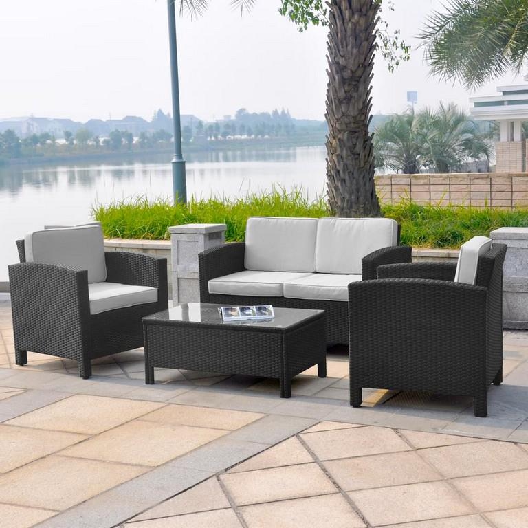 13tlg Xinro Polyrattan Lounge Set Gartenmbel Real inside measurements 1024 X 1024
