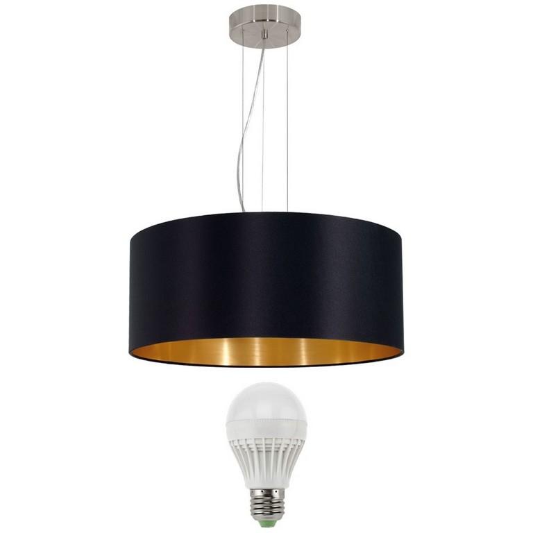 15 Watt Led Hnge Pendel Leuchte Schwarz Gold Lampe Rund Wohnraum regarding dimensions 1000 X 1000