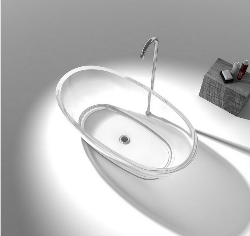 1600x850x580mm Harz Acryl Cupc Zustimmung Farbige Badewanne Oval for proportions 952 X 902