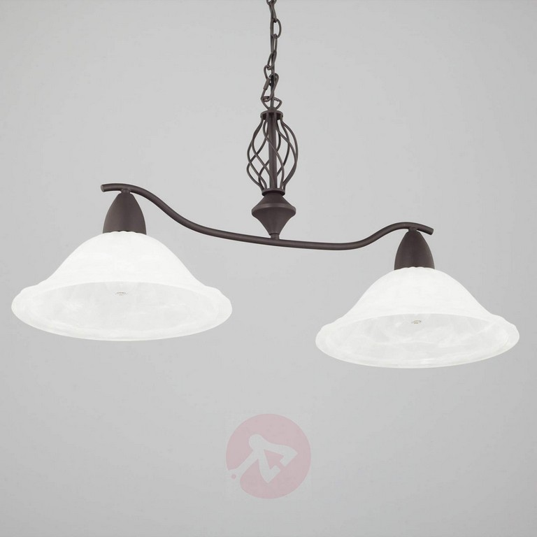 2 Fl Esszimmerleuchte Dunja Mit E27 Led Lampen Kaufen Lampenweltde with regard to dimensions 1800 X 1800