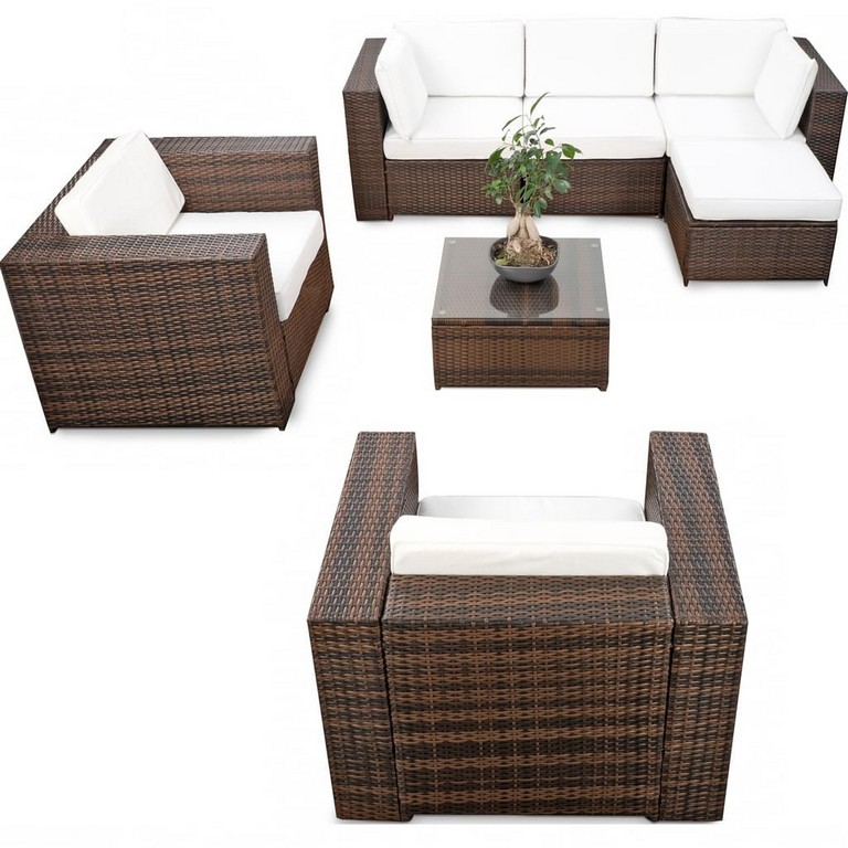21tlg Poly Rattan Lounge Mbel Set Xxl G Real throughout dimensions 1024 X 1024