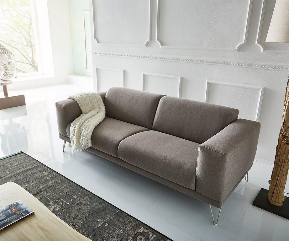 3 Sitzer Lordina 220x90 Cm Grau Fe Metall Premium Mbel Sofas 2 with regard to size 1200 X 1000