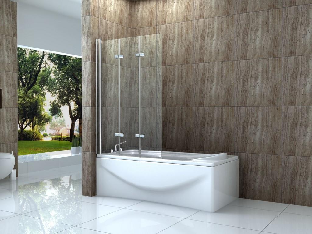 3 Tlg 130 X 140 Badewannen Faltwand Aufsatz Duschwand in dimensions 2000 X 1500