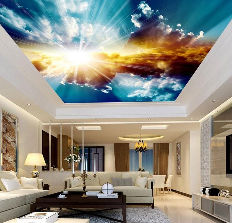3d Decke Wandbilder Wallpaper Blauen Himmel Und Weie Wolken in sizing 919 X 883
