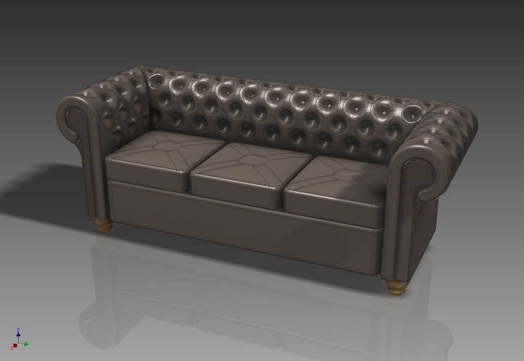 3d Seating Chesterfield Sofa Cgtrader within sizing 1504 X 1036