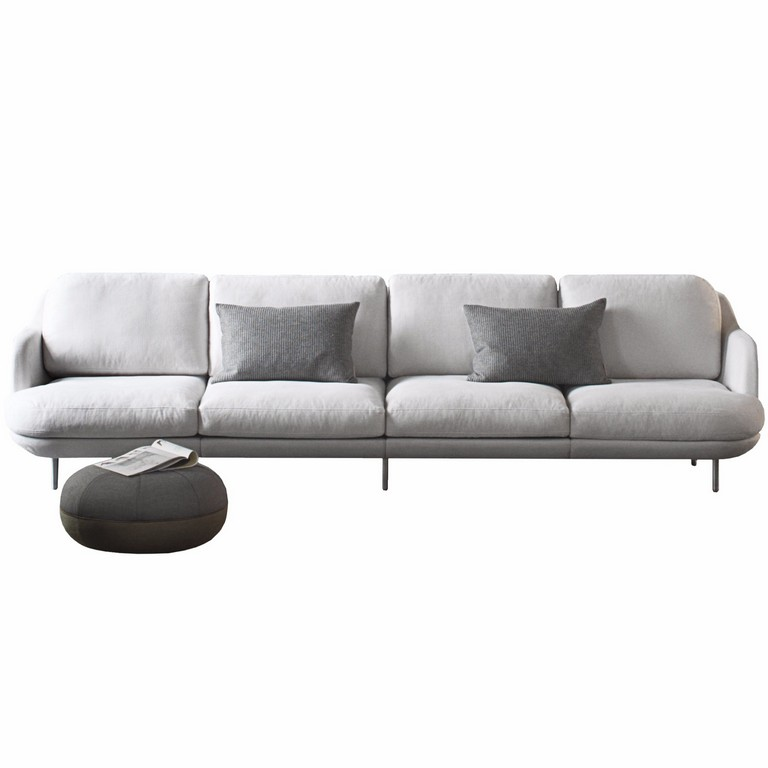 4 Sitzer Sofa Lune Von Fritz Hansen throughout sizing 1956 X 1956