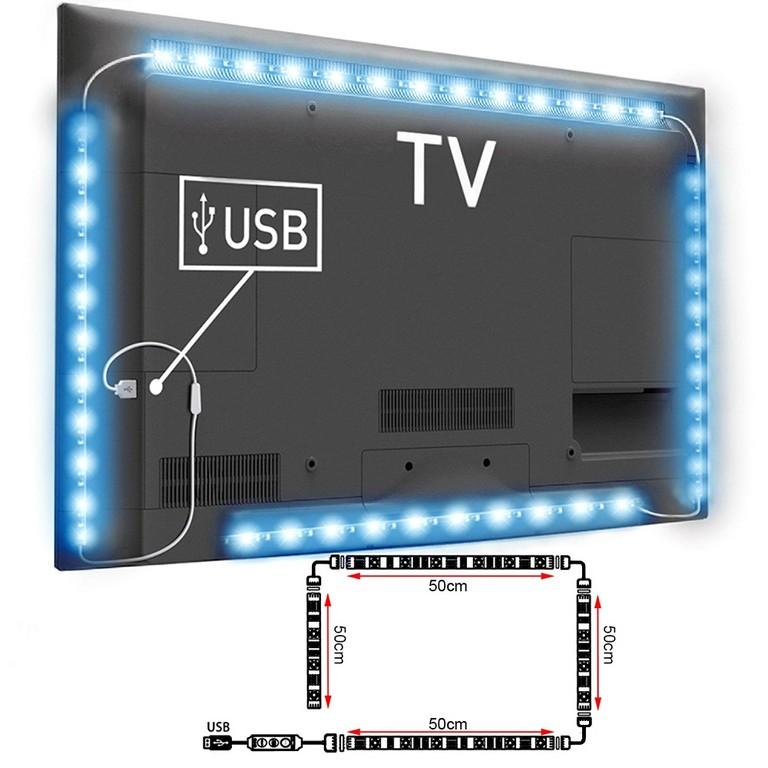 4x Usb Led Rgb Tv Hintergrundbeleuchtung Streifen Leiste Fernseher regarding proportions 1000 X 1000