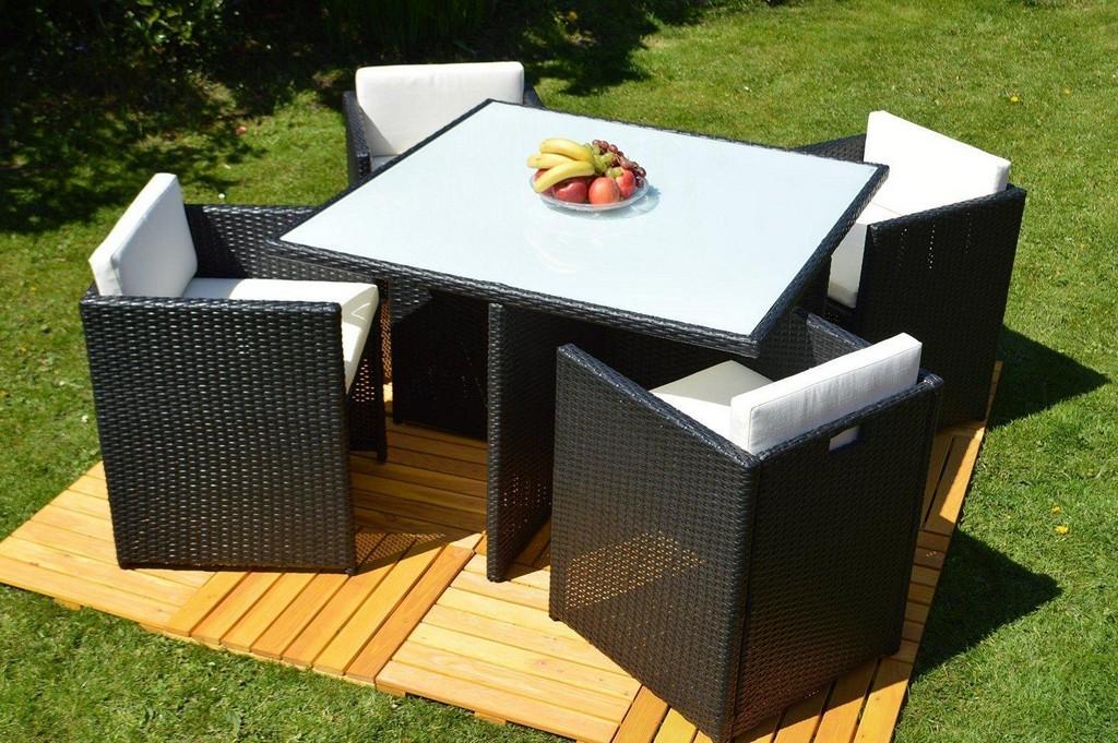 5 Tlg Gartenmbel Set San Marino Essgruppe Rattan Dinning Set regarding dimensions 1500 X 997