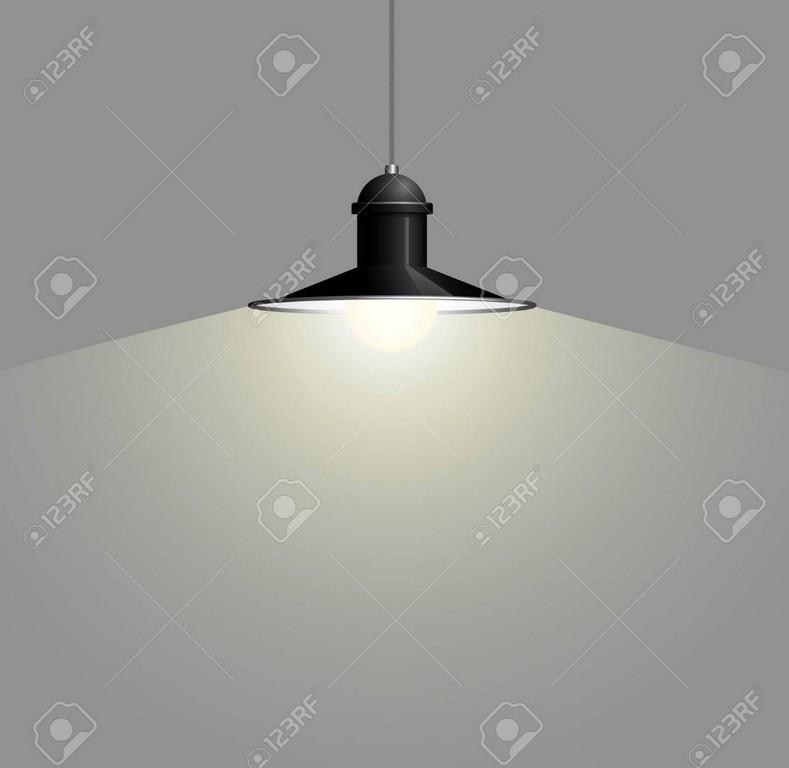 Alte Schwarze Lampe Die Am Draht Hngt Groer Und Leerer Raum inside size 1300 X 1265