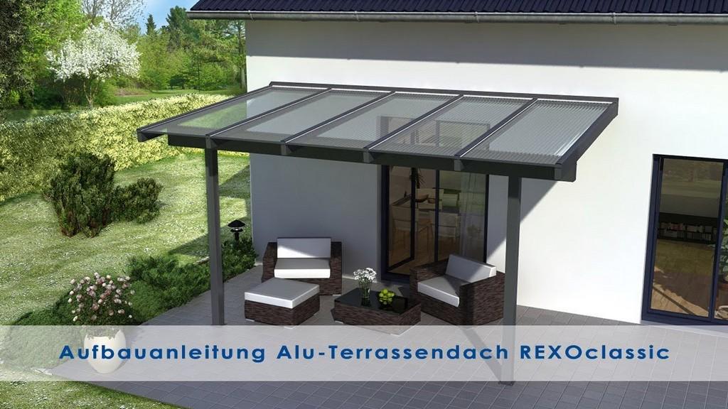 Alu Terrassenberdachung Aufbauanleitung Rexoclassic Version 2018 pertaining to sizing 1280 X 720