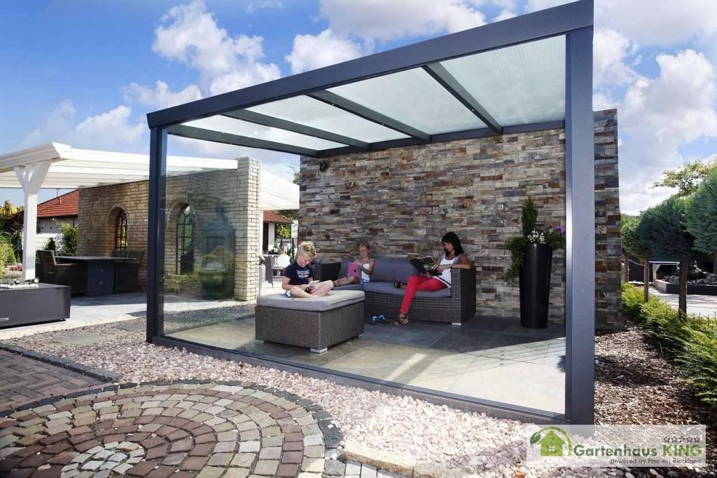 Alu Terrassenberdachung Le Polycarbonat 700 X 300 Gartenhaus Kingde for measurements 1280 X 853