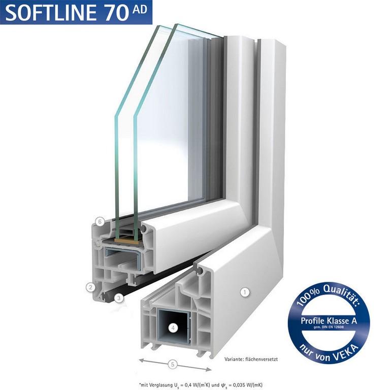 Angebot Fr Pvc Fenster Softline 70 Ad Von Veka 2 Fachverglassung 5 regarding proportions 1000 X 1000