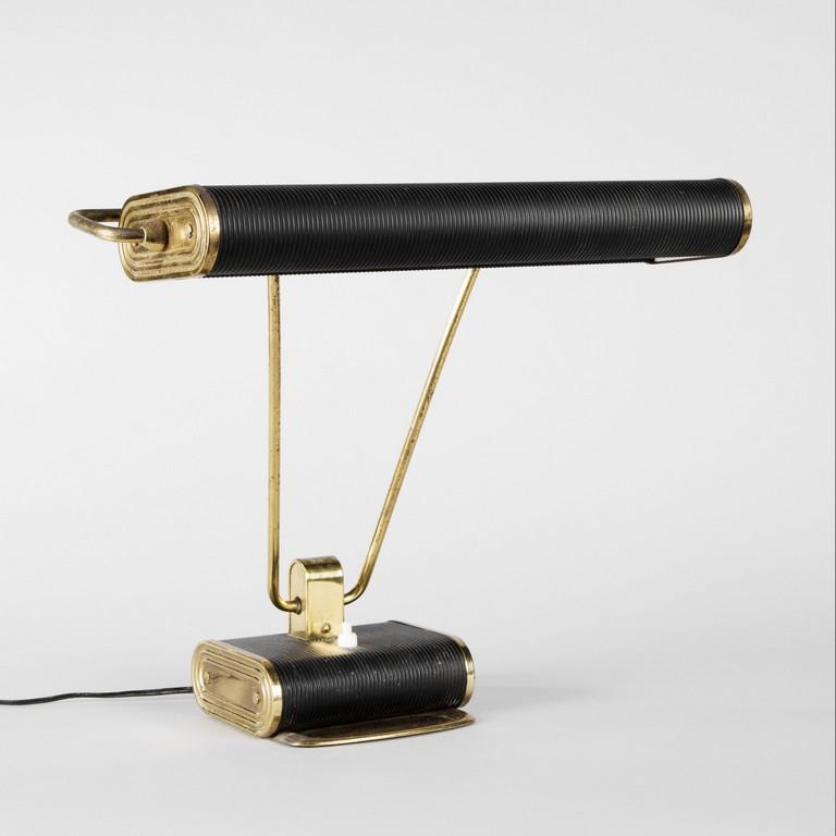 Attribue Eileen Gray Jumo Diteur Lampe De Bureau Gray Table Lamp regarding proportions 3364 X 3364
