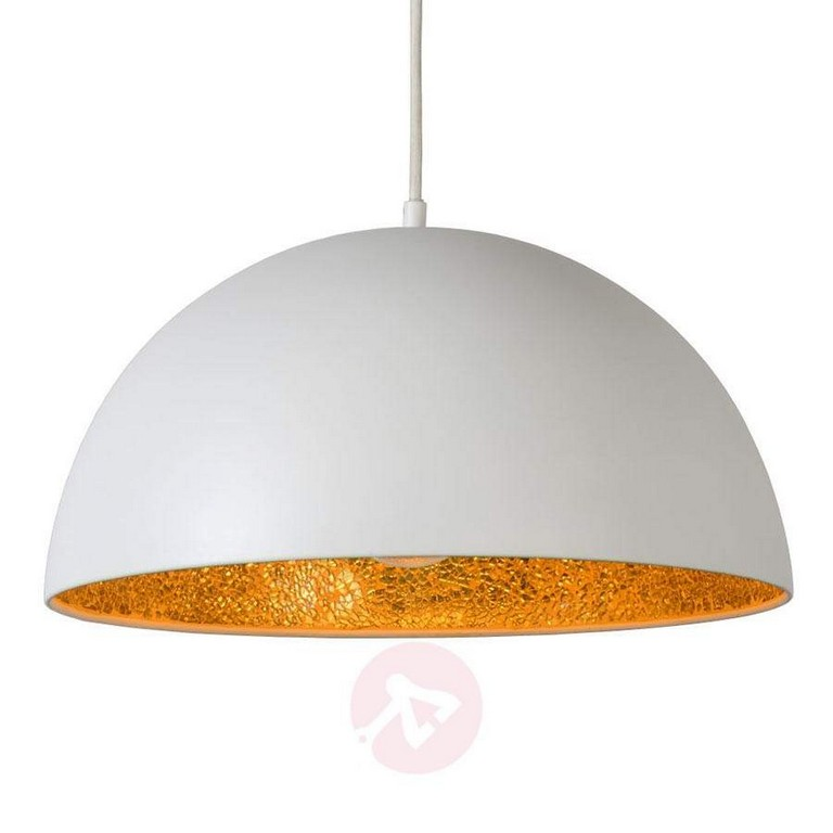 Auen Wei Und Innen Gold Hngeleuchte Elynn Kaufen Lampenweltde regarding size 900 X 900