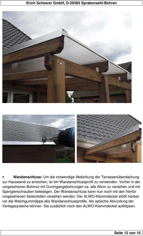 Aufbauanleitung Fr Terrassenberdachungen Mit Stegplatten 16mm Pdf for measurements 960 X 1586