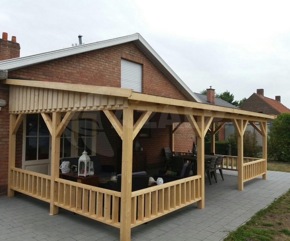 Azalp Terrassenberdachung Holz 850x300 Cm Kaufen Bei Azalpde intended for measurements 1920 X 1594