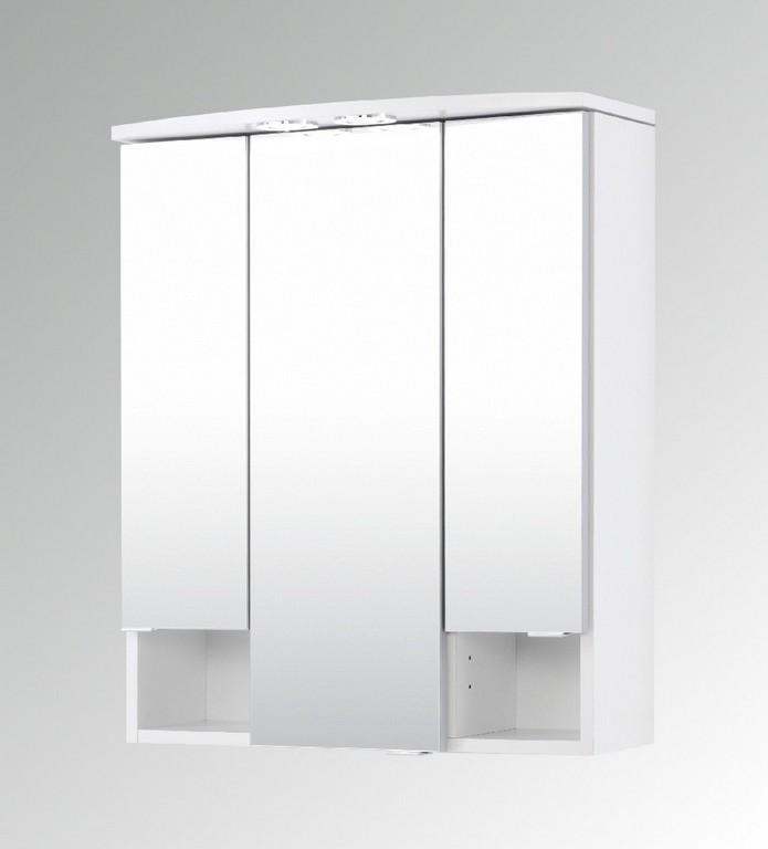 Bad Spiegelschrank Neapel 3 Trig 60 Cm Breit Wei Bad with measurements 905 X 1000