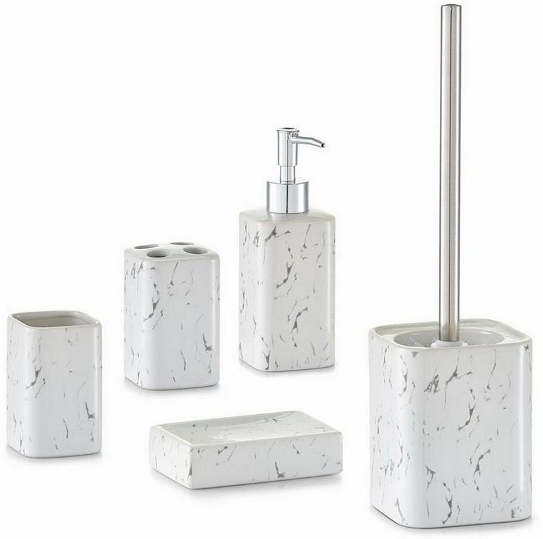 Badezimmer Accessoires Wei Und 4 Tlg Bad Wc Garnitur Set with measurements 960 X 953