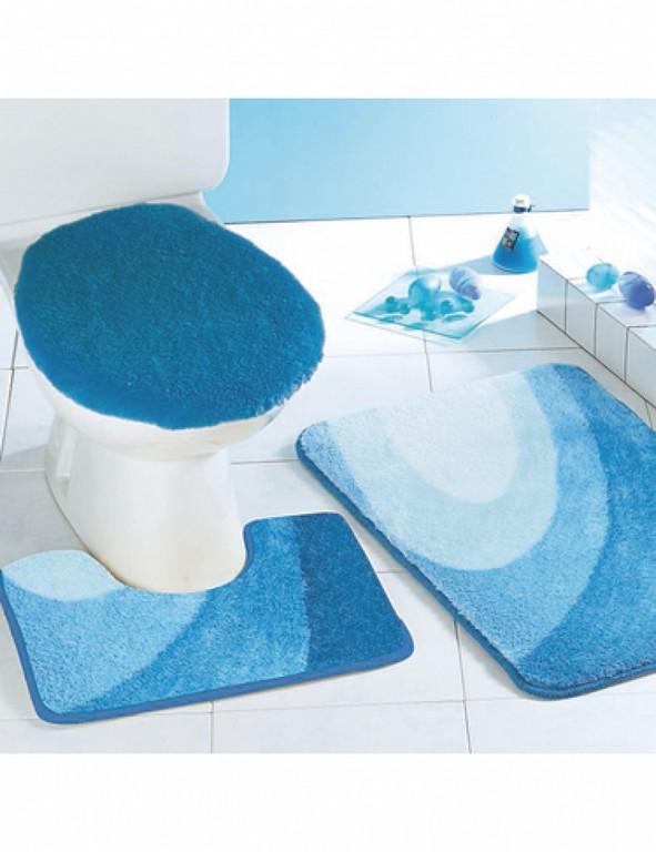 Badezimmer Garnitur 3 Teilig Blau Vitaplaza with sizing 800 X 1040