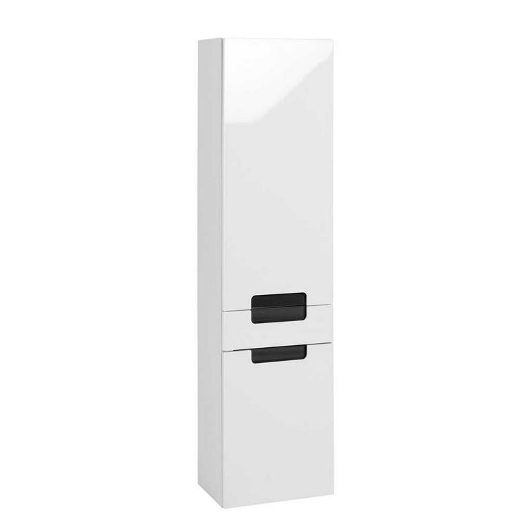 Badezimmer Hochschrank Select In Wei Hochglanz Pharao24de within dimensions 1000 X 1000