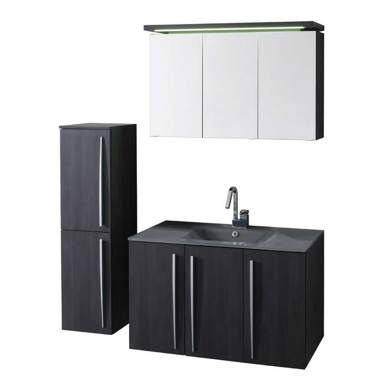 Badezimmer Set Corano In Anthrazit Grau Pharao24de intended for measurements 1000 X 1000