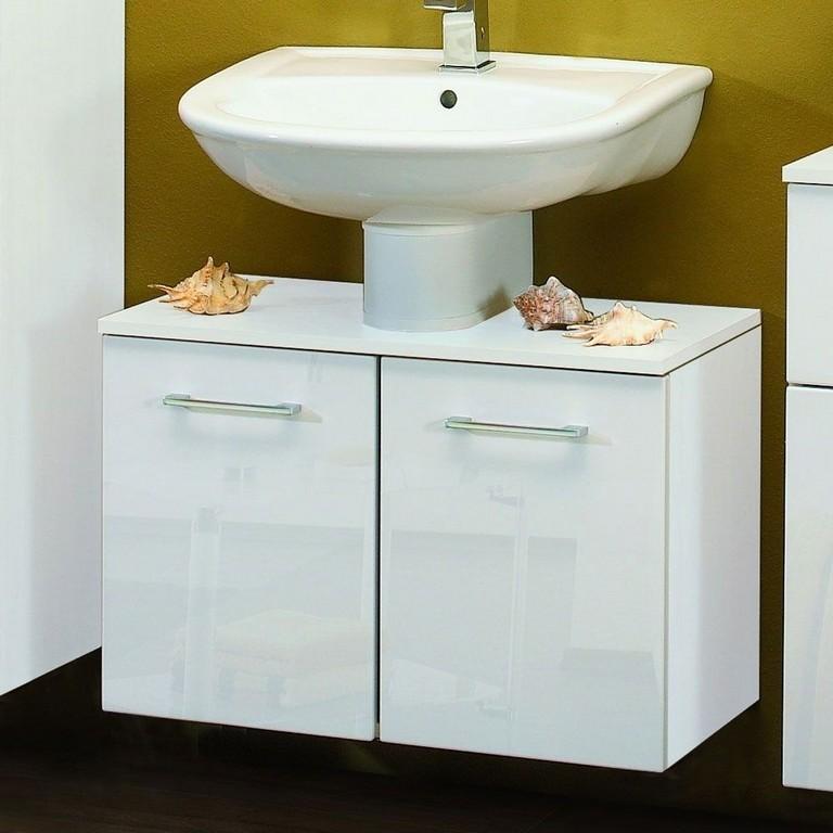 Badezimmer Unterschrank Emily In Hochglanz Wei Wohnende intended for dimensions 1000 X 1000