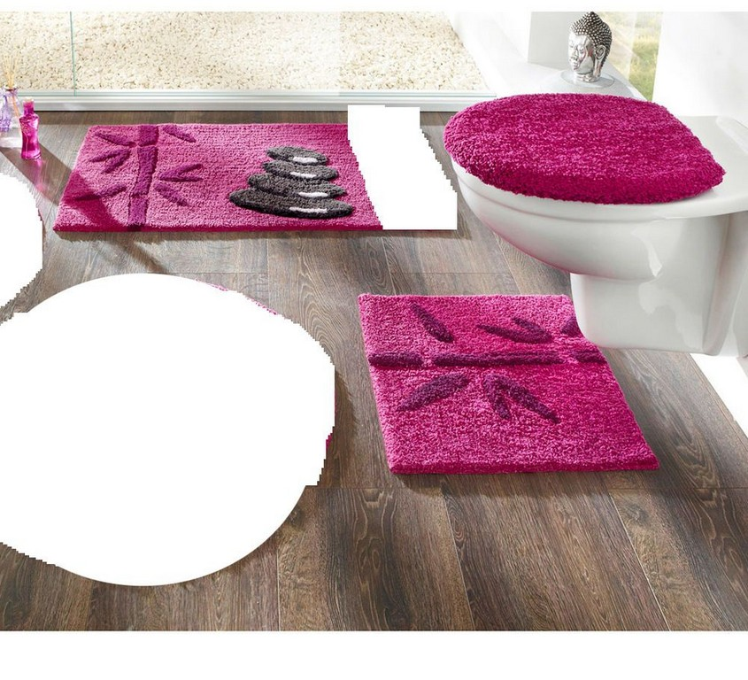 Badgarnitur 3 Tlg Neu Beere Hnge Wc Deckel Badmatte 90x50 Cm throughout sizing 1000 X 909