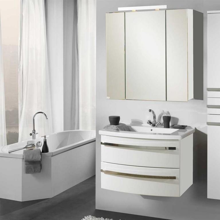 Badmobel Set 2 Teilig Luxus Bad Waschtisch Mit Spiegelschrank within dimensions 1000 X 1000