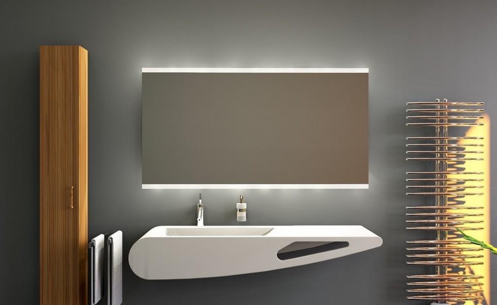 Badspiegel Mit Beleuchtung Badezimmerspiegel Beleuchteten Badspiegel with size 1372 X 843