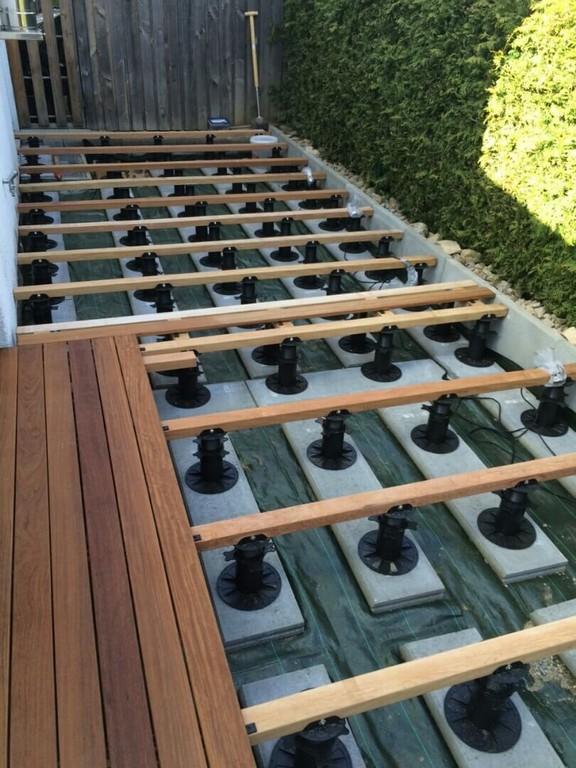 Bauanleitung Fr Holzterrasse Unterkonstruktion Verlegen throughout dimensions 810 X 1080