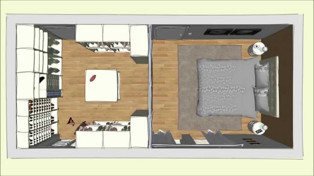 Begehbarer Cabinet Kleiderschrank Im Schlafzimmer Geplant Von Drr intended for dimensions 1280 X 720
