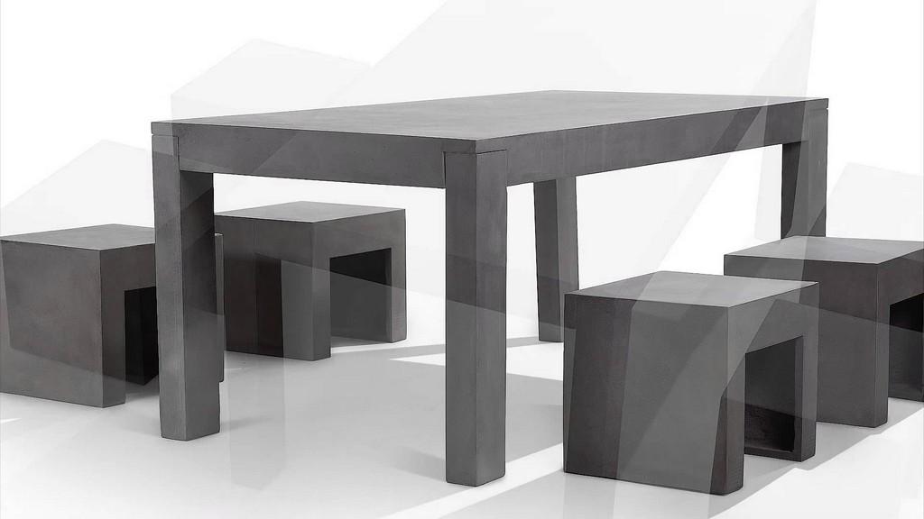 Beliani Gartenmbel Aus Beton Tisch Mit Vier Sthlen Betonmbel throughout proportions 1920 X 1080