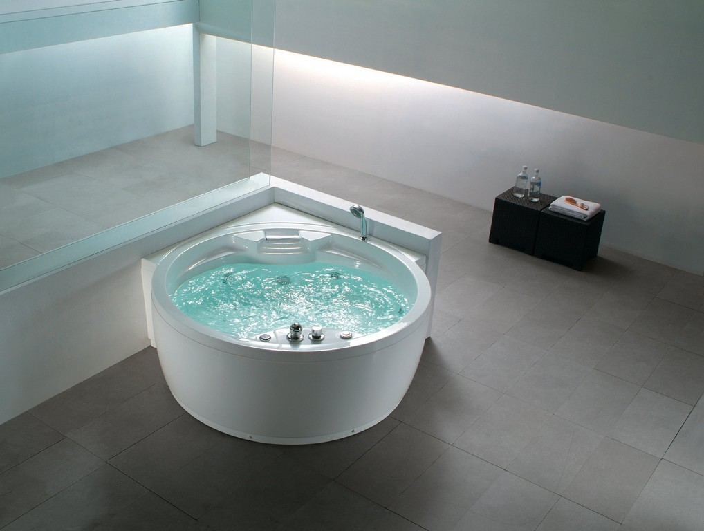 Beliani Whirlpool Badewanne Rund Spa Indoor Sprudelbad with regard to measurements 2776 X 2094