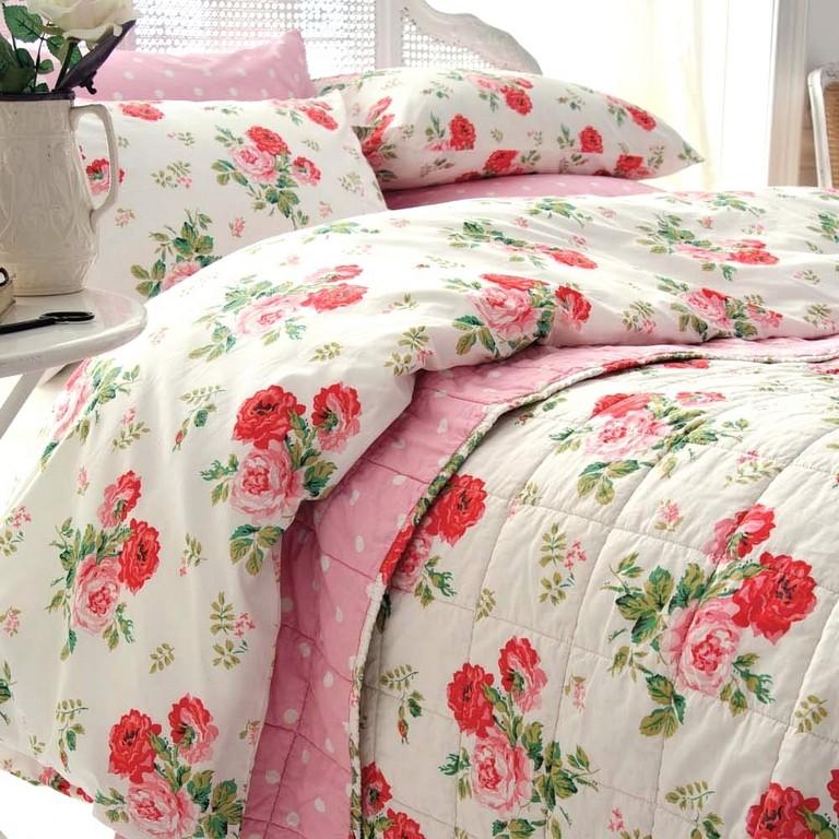 Bemerkenswerte Inspiration Bettwsche Rosen Und Tolle Wei Rosa in dimensions 1000 X 1000