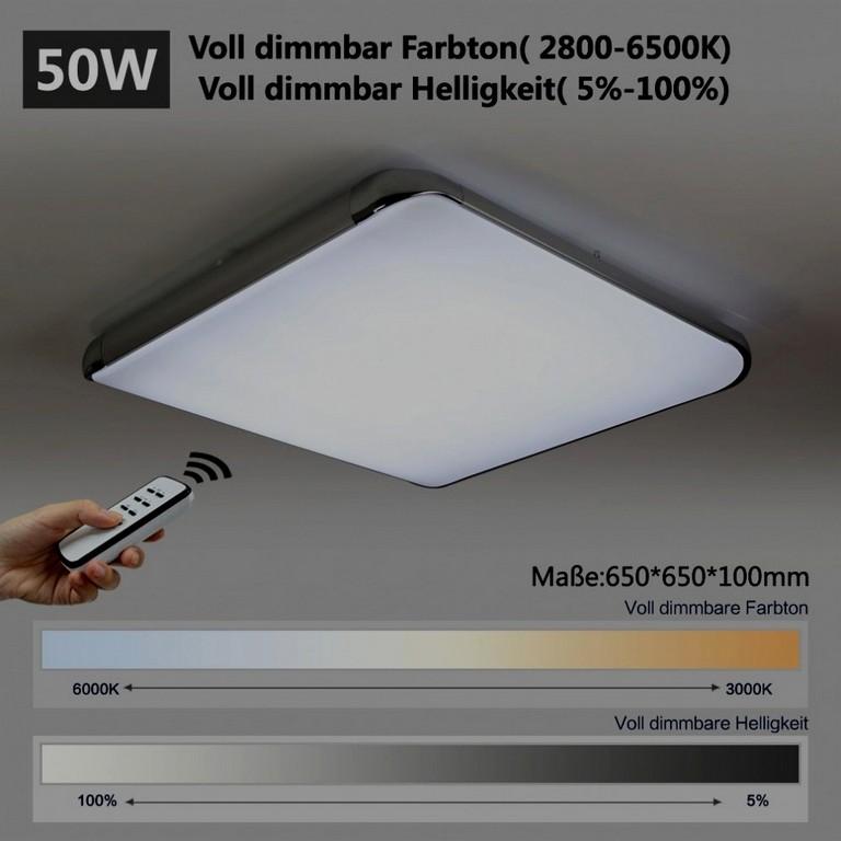 Beste Wohnzimmerlampe Dimmbar Rc Ultrad Nne 5 Cm Led Deckenleuchte inside size 990 X 990