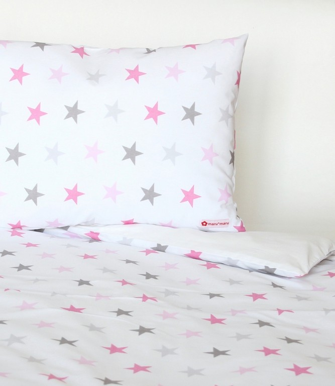 Bettwsche Sterne Rosa Pink Grau Marumaru pertaining to sizing 1042 X 1200