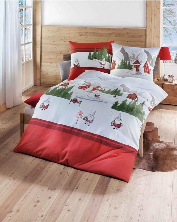 Biber Bettwsche Fr Weihnachten 135x200 155x220 In Rot Von throughout dimensions 816 X 1020