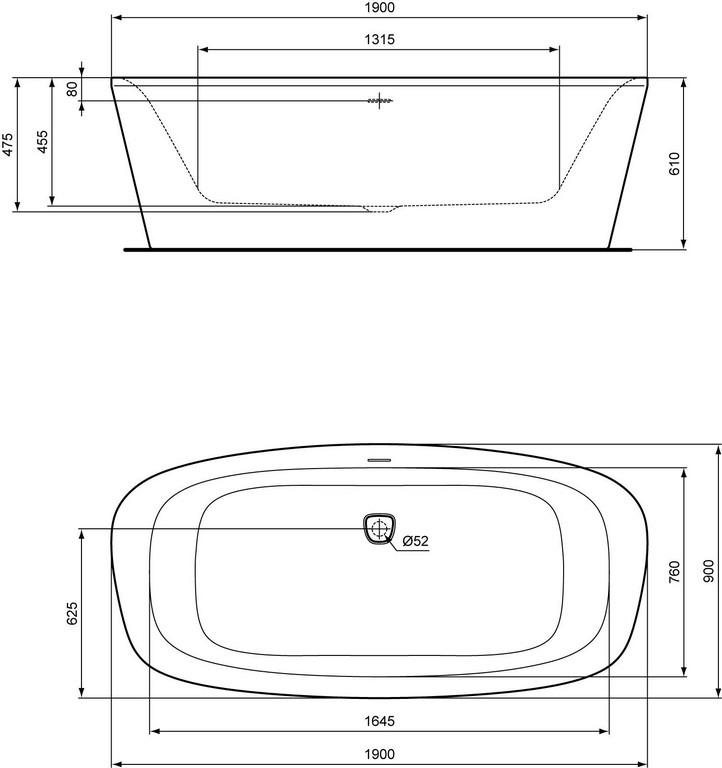 Billigerde Ideal Standard Dea Freistehende Badewanne 90 X 190 Cm regarding proportions 1510 X 1606