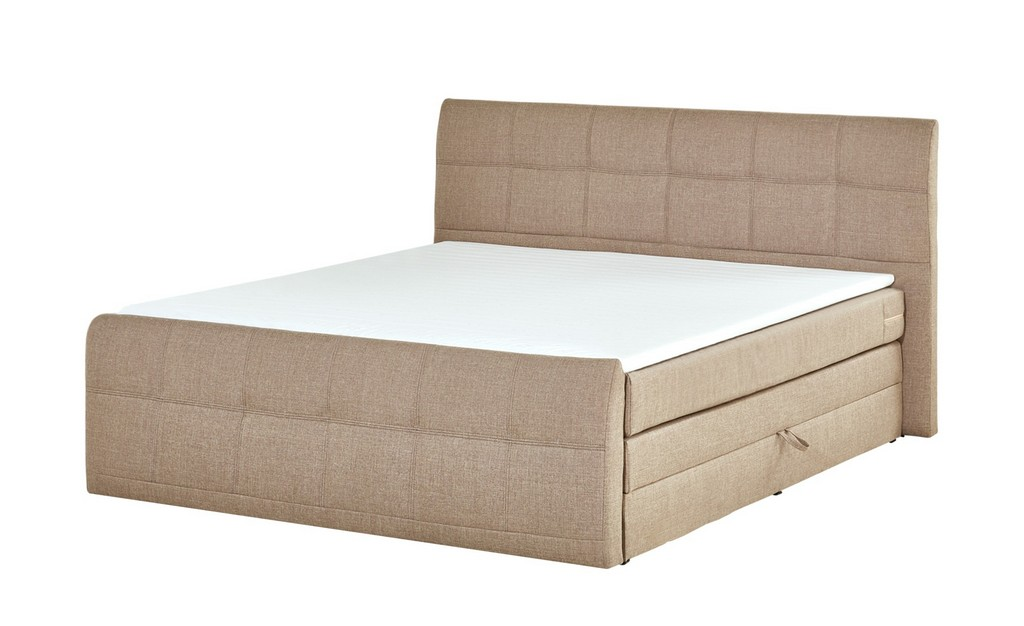 Boxspringbett 180x200 Mit Bettkasten Sand Mbel Kraft regarding sizing 2000 X 1222