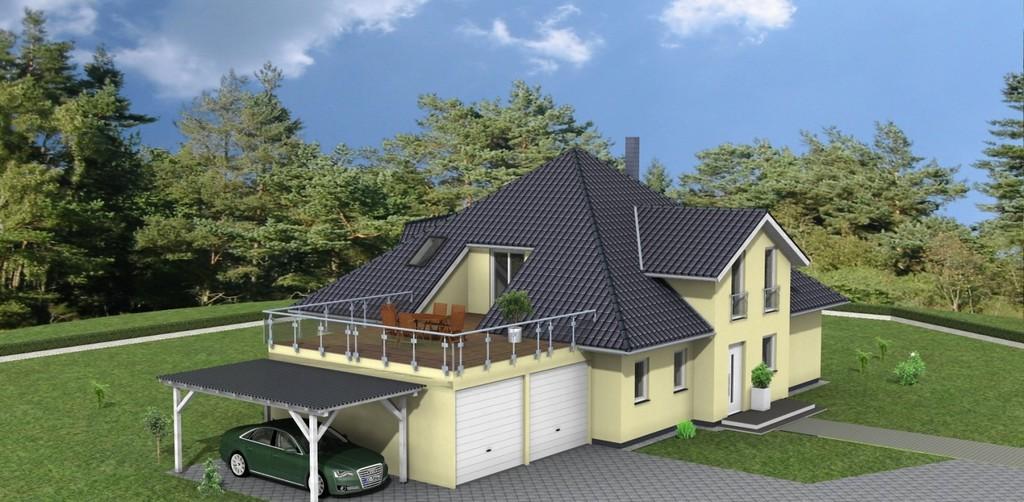 Bungalow 215 M Berdachte Terrasse Amex Hausbau Gmbh with sizing 1600 X 784