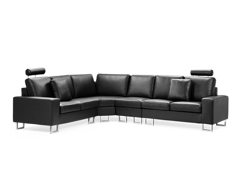 Canap Angle Droite En Cuir Noir Sofa Stockholm Belianich in dimensions 5868 X 4401