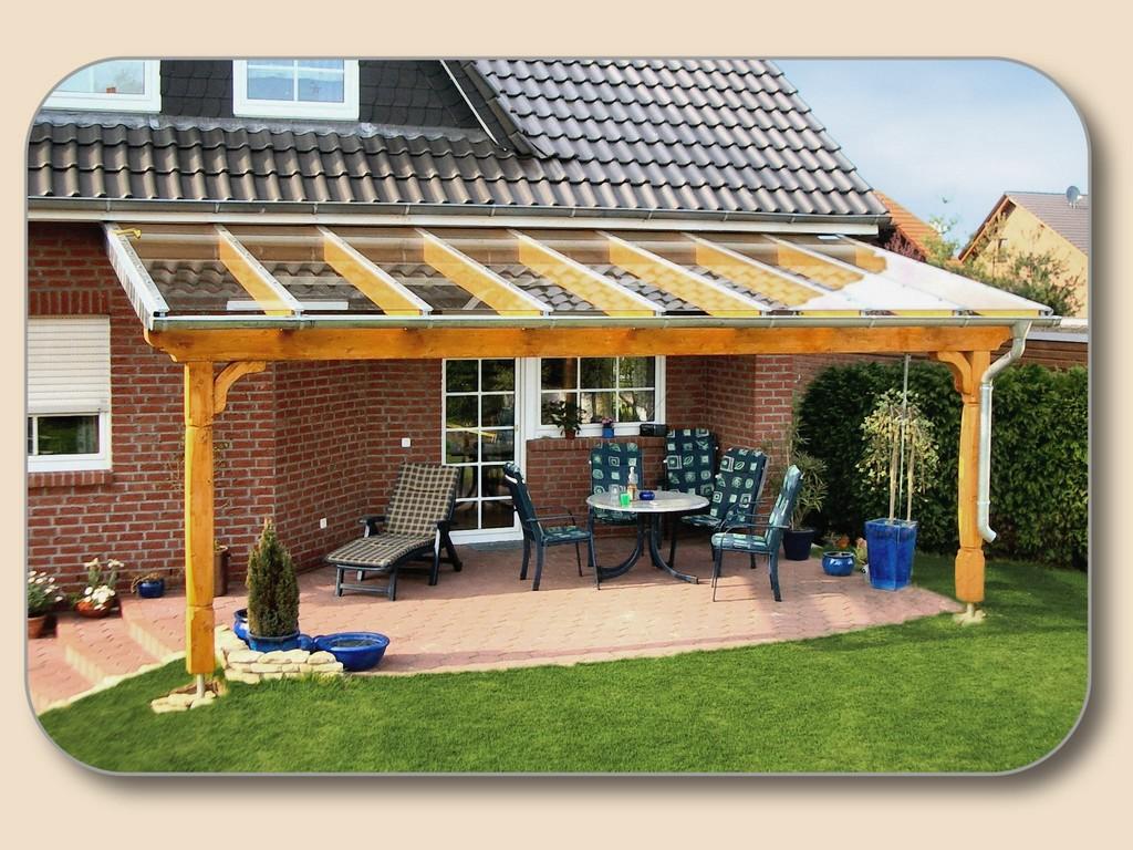Carport Terrassenberdachung Gartensauna Pavillon Holz Glas pertaining to size 2048 X 1536