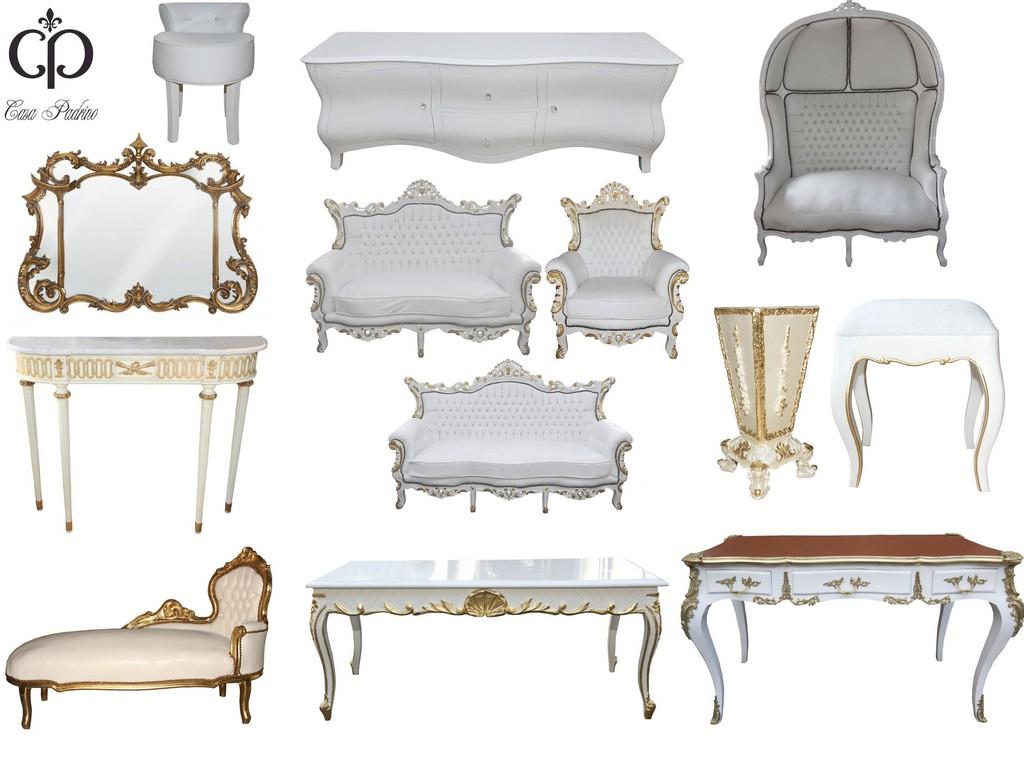Casa Padrino Mbel Design Luxus Kollektion Wei Gold Edel for sizing 3961 X 2942