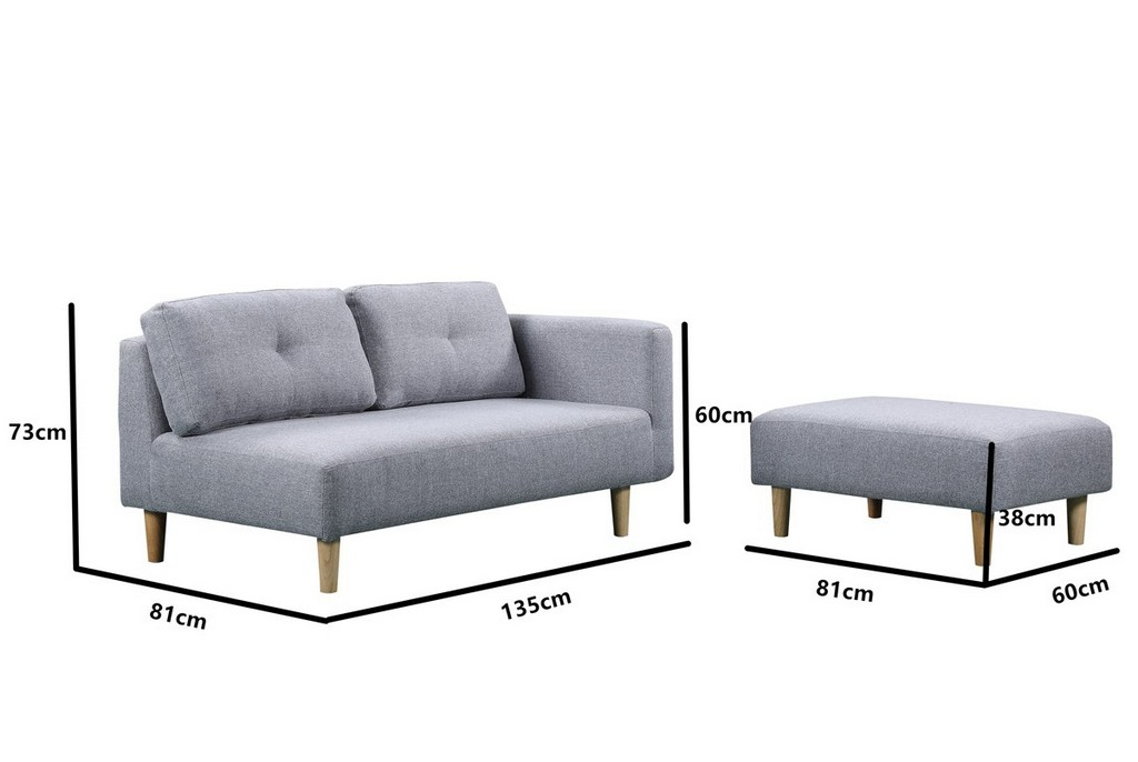 Cavendish Charcoal Grey Sofa And Stool for sizing 1200 X 804