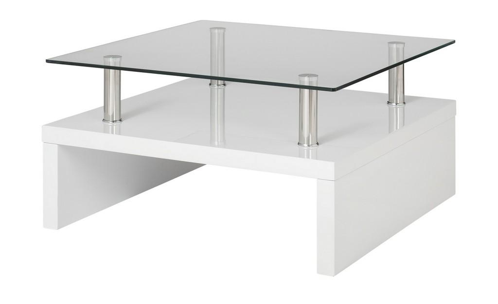 Couchtisch Wei Metall Glas Hochglanz Wei Mbel Kraft with regard to proportions 2000 X 1222