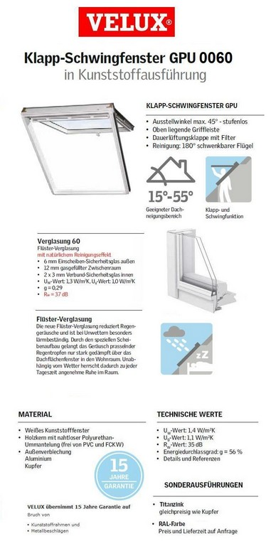 Dachfenster Klapp Schwing Fenster Gpu Thermo Plus 0060 Dachmax pertaining to proportions 705 X 1421