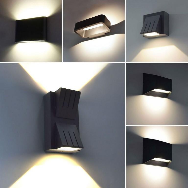 Details Zu Moderne Led Aussenleuchte Wandleuchte Aussenlampe Up Down within sizing 1000 X 1000