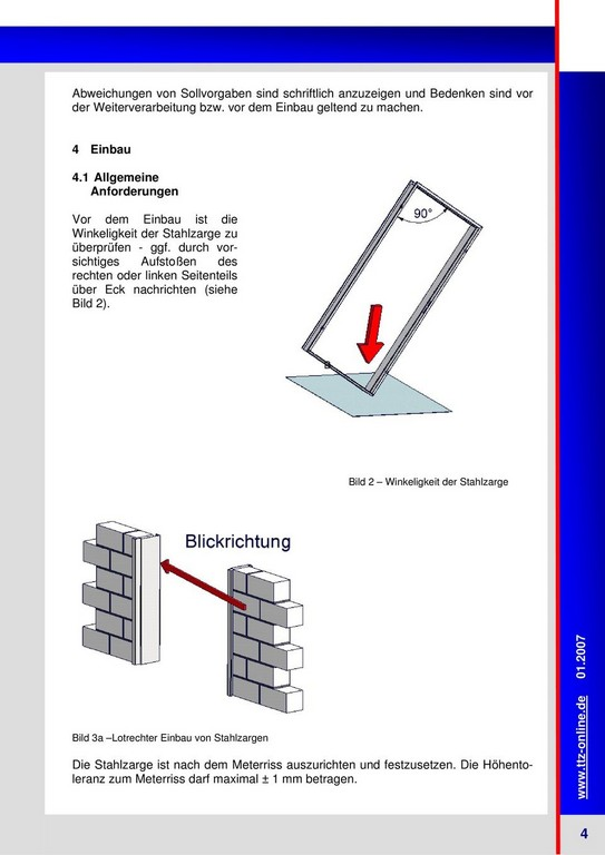 Die Richtlinie Fr Den Einbau Von Stahlzargen Pdf throughout dimensions 960 X 1358